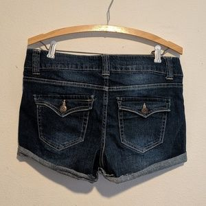 Celebrity Pink Shorts - Celebrity Pink cuffed blue jean shorts